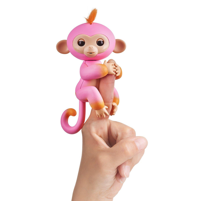 Купить Интерактивная обезьянка Саммер, розовая с оранжевым, 12 см, WowWee