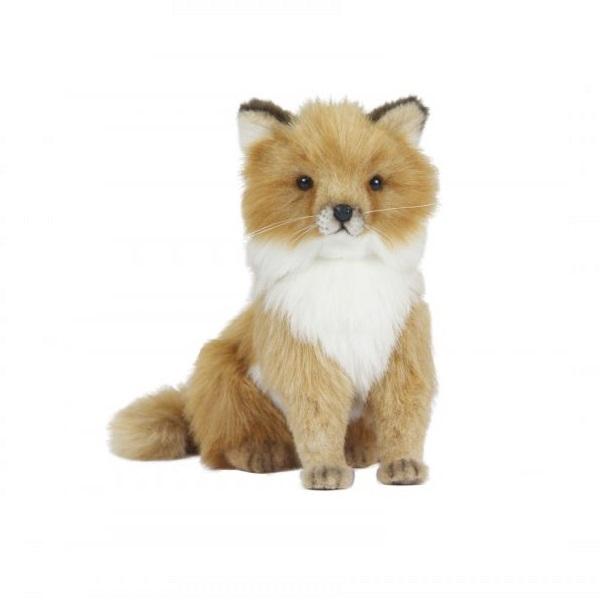 Мягкая игрушка - Лисица сидящая, 24 см.Дикие животные<br>Мягкая игрушка - Лисица сидящая, 24 см.<br>