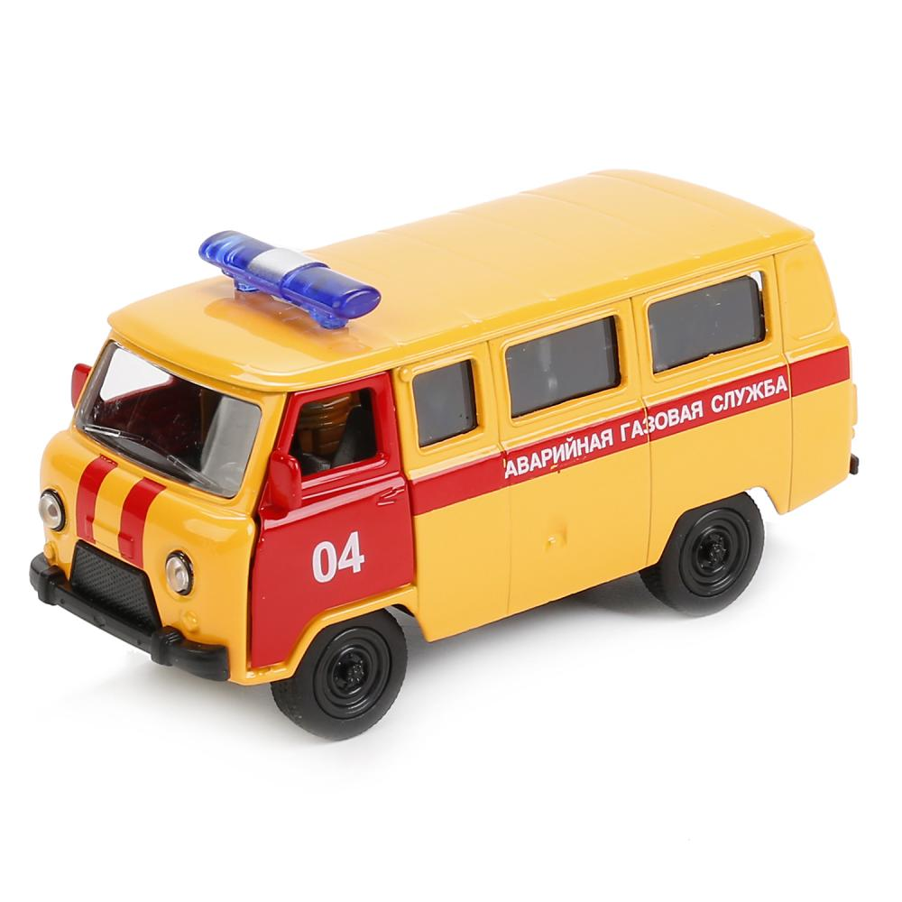 Купить Аварийная газовая служба Уаз 39625 - машина металлическая инерционная, 1:50, Технопарк