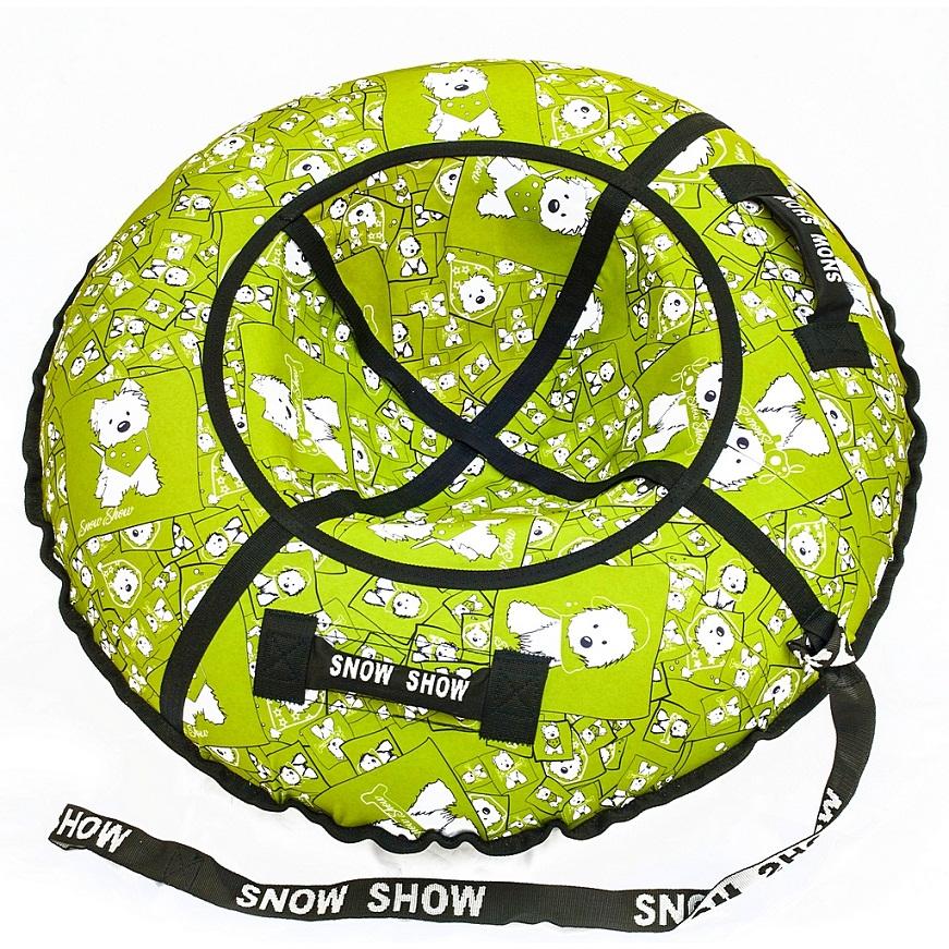 Купить Санки надувные - Тюбинг RT - Собачки на салатовом, диаметр 87 см