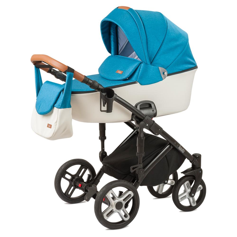 Купить Детская коляска Nuovita Carro Sport 2 в 1, цвет - Blu bianco/Сине-белый