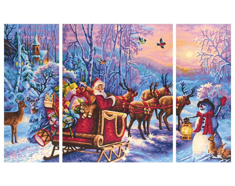 Триптих - Дед МорозПодарки на Новый год<br>Триптих - Дед Мороз<br>