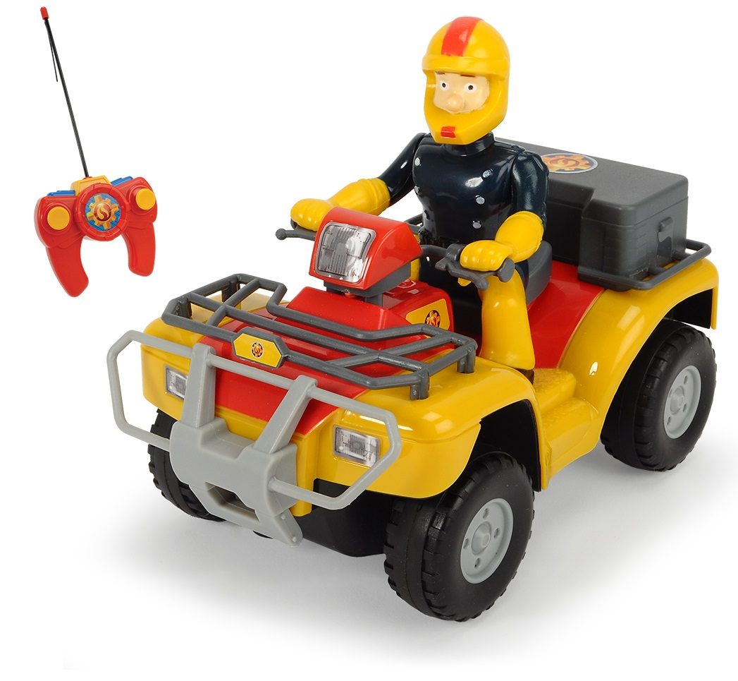 Купить Квадроцикл на радиоуправлении из серии «Пожарный Сэм», 2-х канальный, свет, 1:24, Dickie Toys