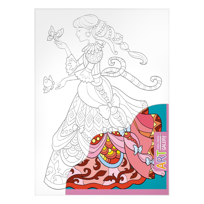 Раскраска на бумажном холсте из серии Арт Галерея средняя – ЗолушкаРоспись по холсту<br>Раскраска на бумажном холсте из серии Арт Галерея средняя – Золушка<br>