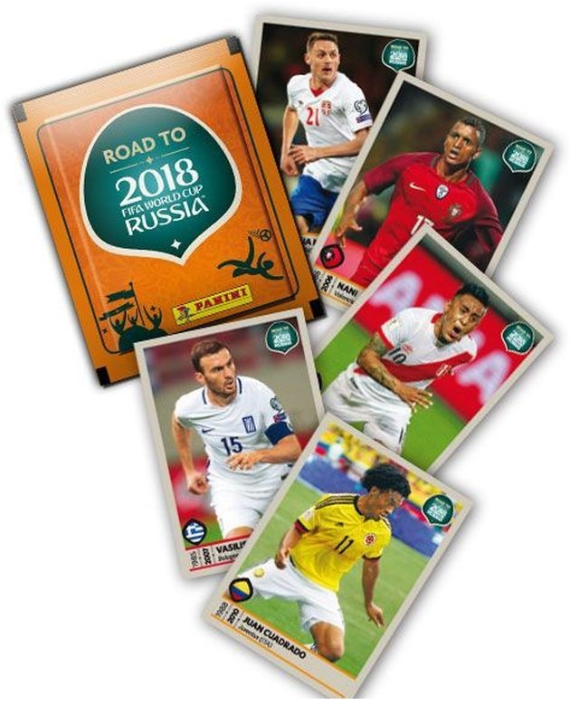Наклейки Road to 2018 Fifa World Cup Russia, пакетики по 5 наклеекНаклейки<br>Наклейки Road to 2018 Fifa World Cup Russia, пакетики по 5 наклеек<br>