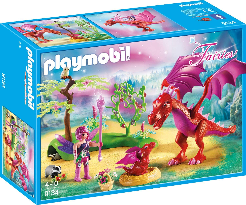 Купить Игровой набор из серии Феи: Дружелюбный дракон с ребенком, Playmobil