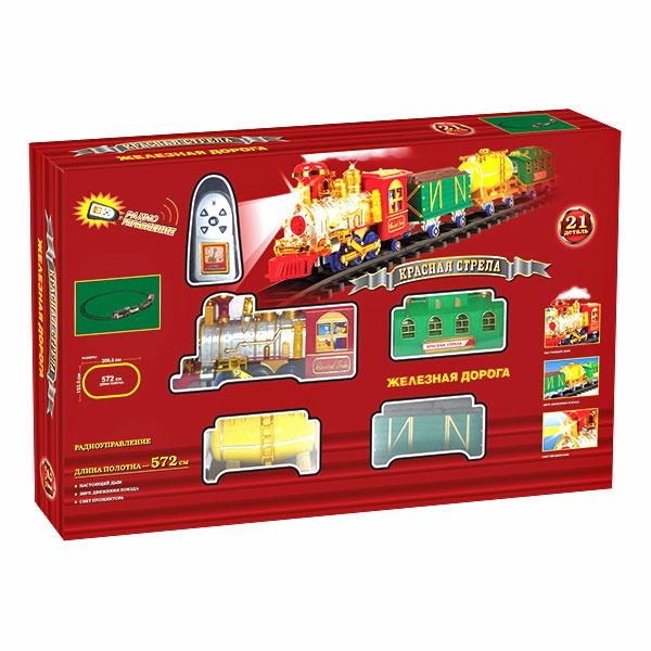 Железная дорога Красная стрела с дымомДетская железная дорога<br>Железная дорога Красная стрела с дымом<br>