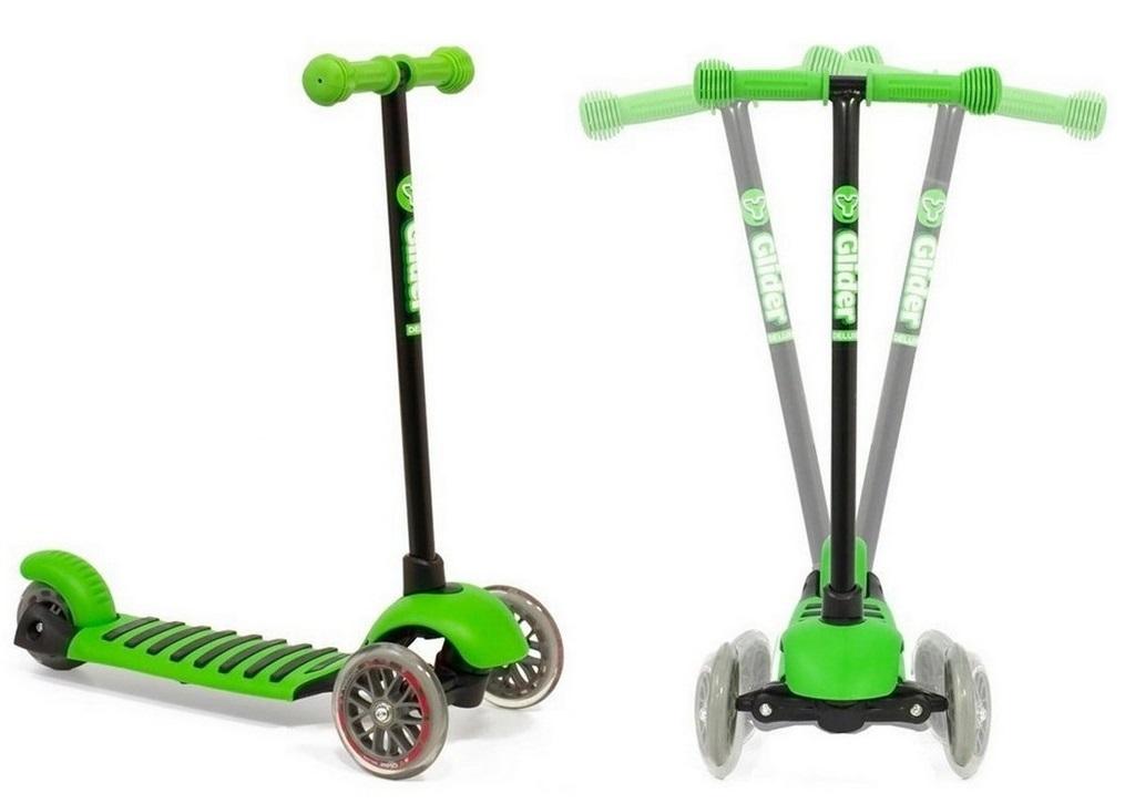 Самокат 3-х колесный Glider mini, greenТрехколесные самокаты<br>Самокат 3-х колесный Glider mini, green<br>