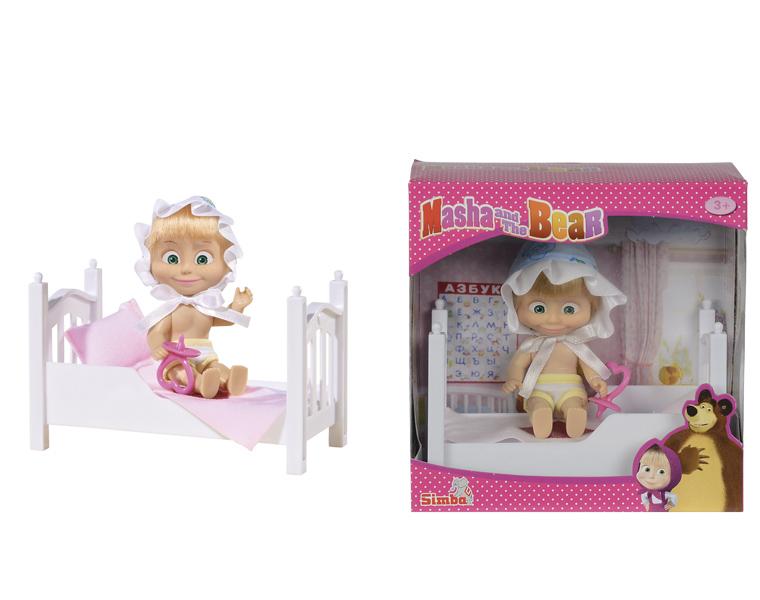 Маша с кроваткой и аксессуарами - Маша и медведь игрушки, артикул: 126714