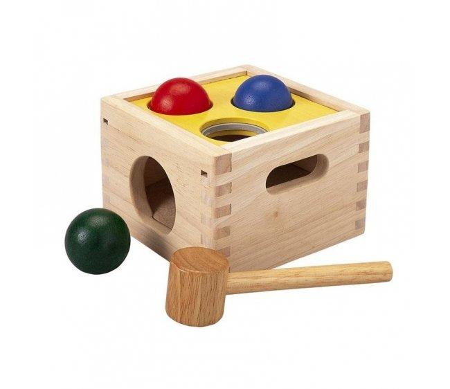 Купить Забивалка Молоток с шарами, Plan Toys