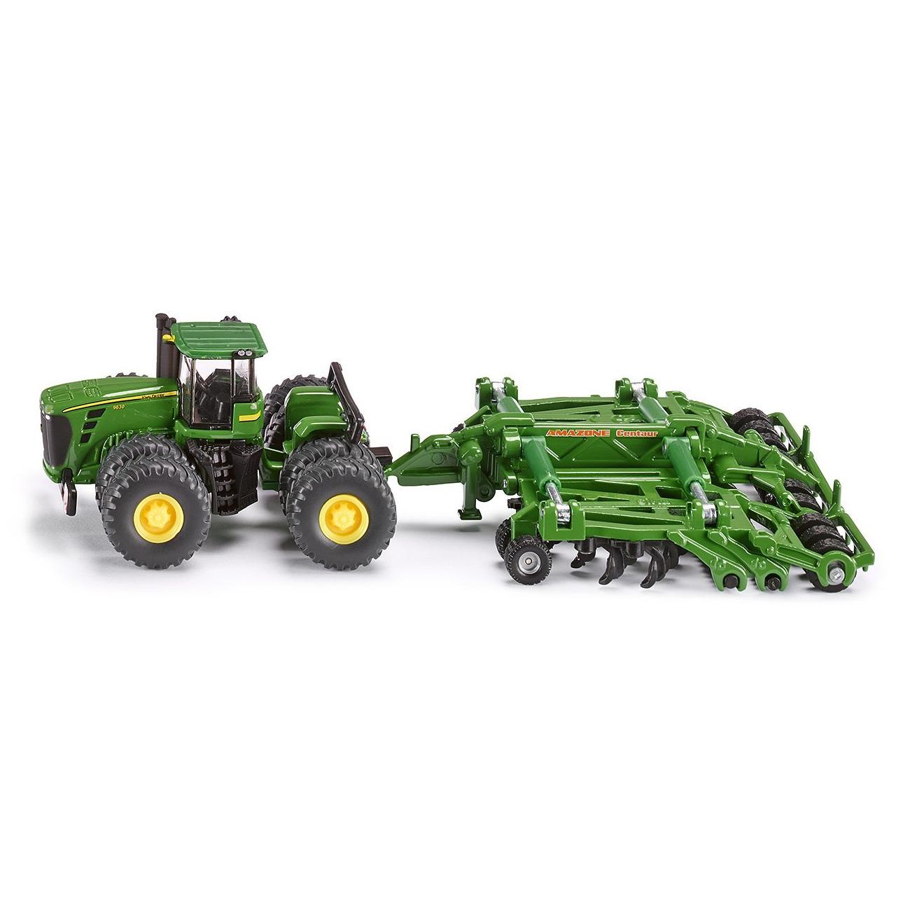 Купить Трактор c прицепом-плугом, масштаб 1:87, Siku