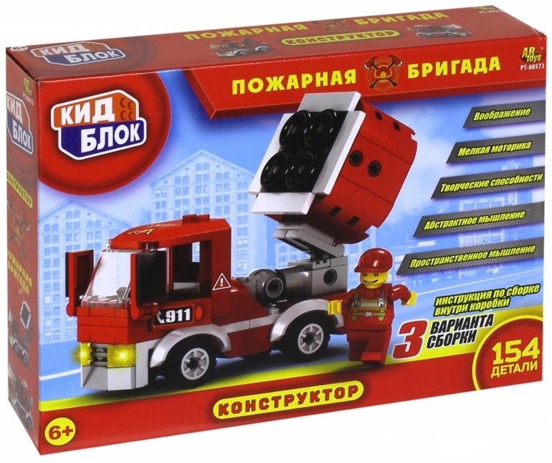 Конструктор Кид Блок - Пожарная бригада, 154 деталиПожарная техника, машины<br>Конструктор Кид Блок - Пожарная бригада, 154 детали<br>