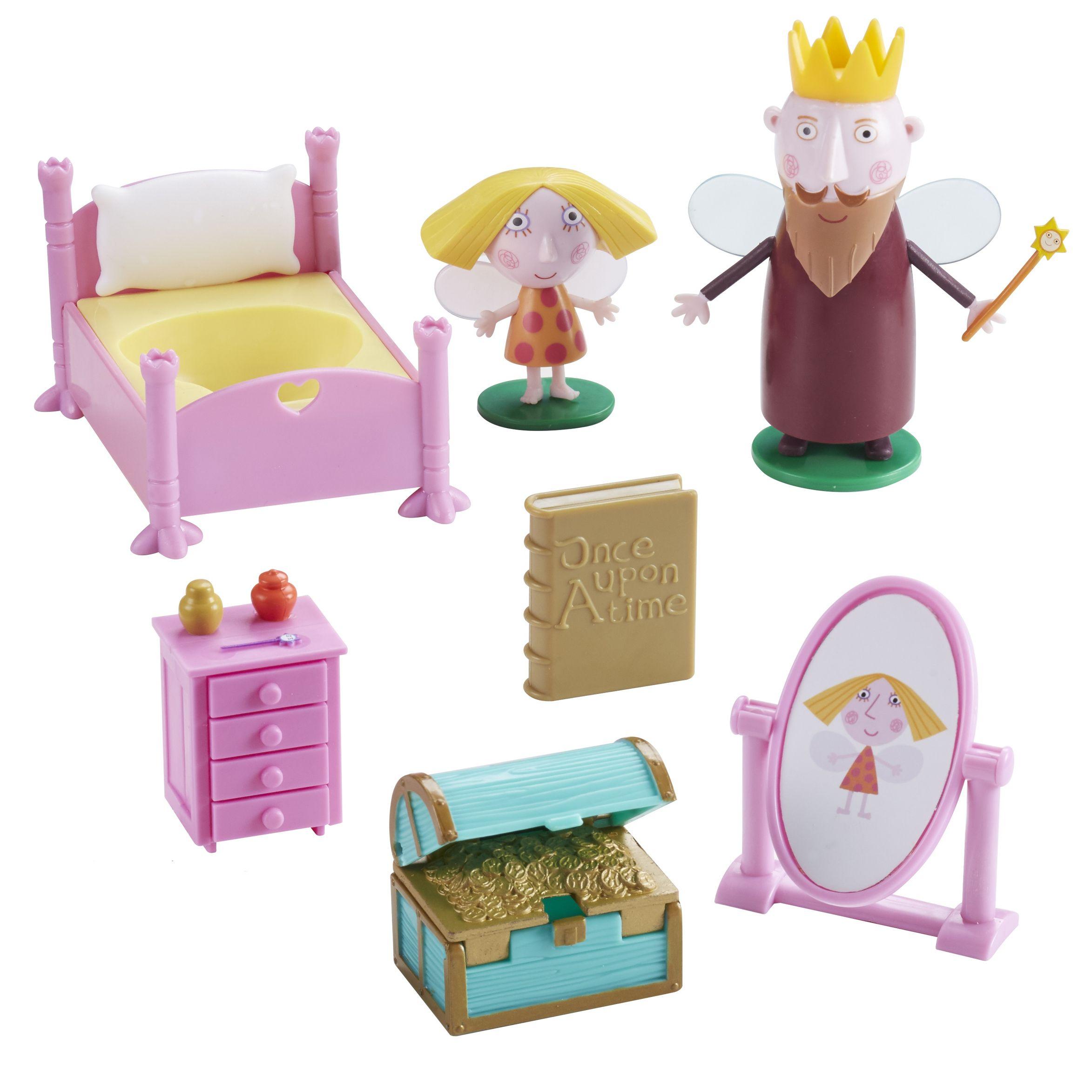 Купить Игровой набор – Сказка на ночь с 2 фигурками Холли и короля из серии Маленькое королевство Бена и Холли, Росмэн