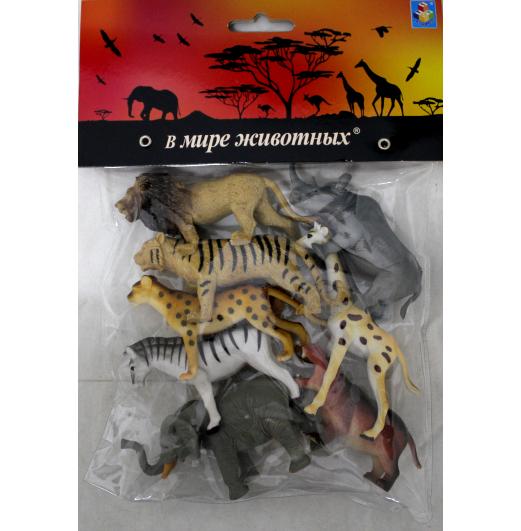 Купить Набор В мире животных – Дикие животные Африки, 8 штук, 1TOY