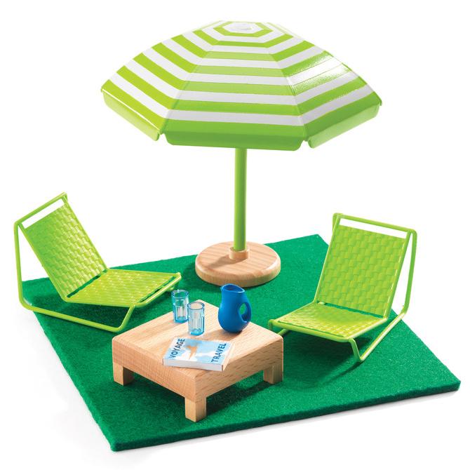 Мебель для кукольного дома - ТеррасаКукольные домики<br>Мебель для кукольного дома - Терраса<br>