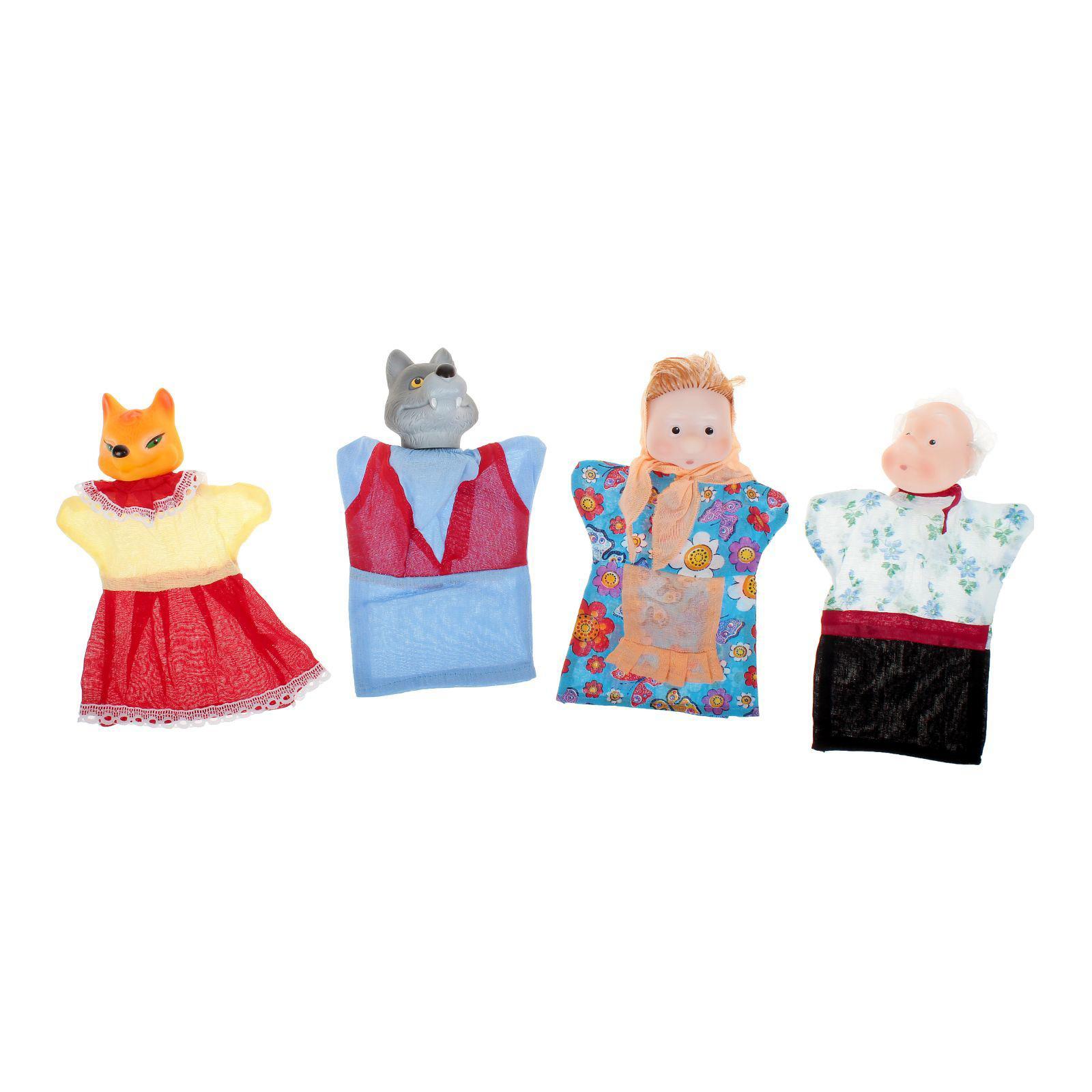 Пластмастер Кукольный театр – Волк и Лиса, 4 персоны