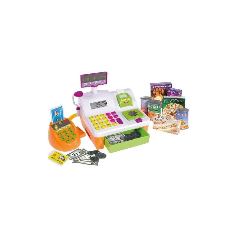 Игровой набор Chip n Pin Till - Кассовый аппарат с покупками, свет, звукДетска игрушка Касса. Магазин. Супермаркет<br>Игровой набор Chip n Pin Till - Кассовый аппарат с покупками, свет, звук<br>