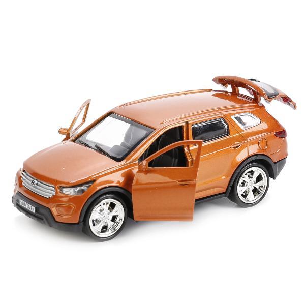 Машина металлическая Hyundai Santafe 12 см, открываются двери и багажник, инерционная по цене 342