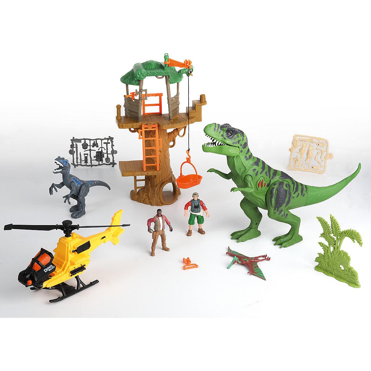 Игровой набор - Охота на Тираннозавра в джунглях, свет и звук фото