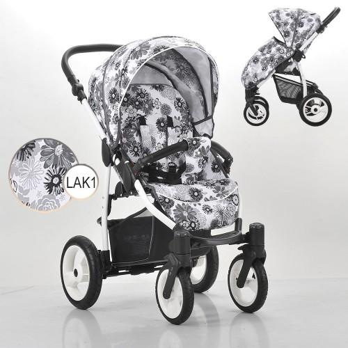 Детская прогулочная коляска – Rainbow, шасси белая/BIA LAK1