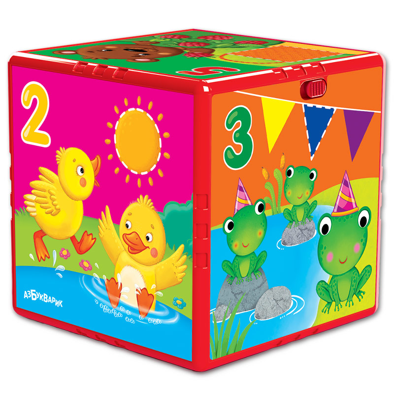 Купить Игрушка музыкальная - Говорящий кубик. Счет, формы, цвета, Азбукварик