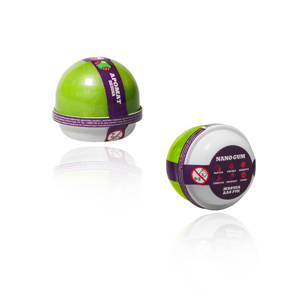 Купить Жвачка для рук - Nano gum с ароматом яблока, 25 грамм, Фабрика игрушек