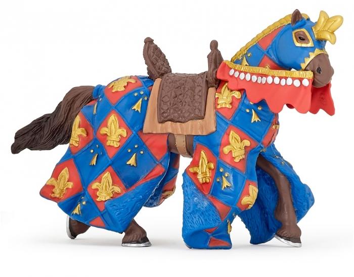 Фигурка - Лошадь с символом Флер де Лис, синяяЛошади (Horse)<br>Фигурка - Лошадь с символом Флер де Лис, синяя<br>