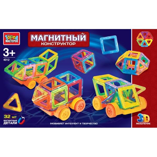 Купить Магнитный конструктор Город Мастеров, 32 мини-детали, Город мастеров