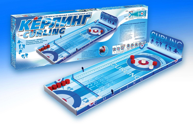 Настольная игра - КерлингНастольный хоккей<br>Настольная игра - Керлинг<br>
