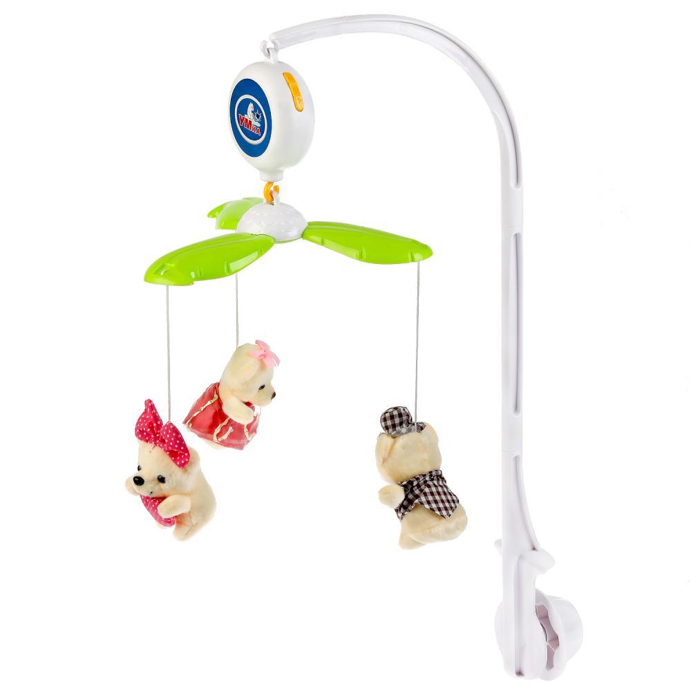 Музыкальная карусель на кроватку с мягкими игрушками, 10 колыбельных