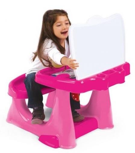 Парта со скамейкой и открывающейся столешницейПарты<br>Парта со скамейкой и открывающейся столешницей<br>