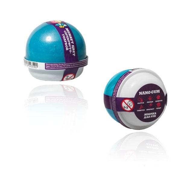 Купить Жвачка для рук Nano Gum, серебристо-голубая, 25 г, Волшебный мир