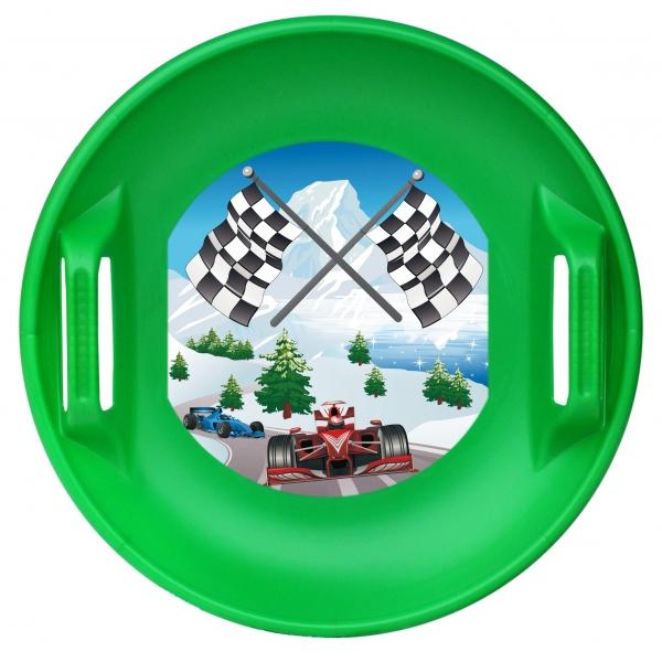Ледянка – Форсаж с машинками, цвет – зеленыйВатрушки и ледянки<br>Ледянка – Форсаж с машинками, цвет – зеленый<br>