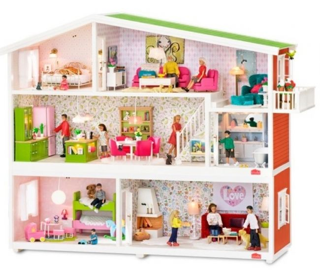 Кукольный домик с освещением - СмоландКукольные домики<br>Кукольный домик с освещением - Смоланд<br>