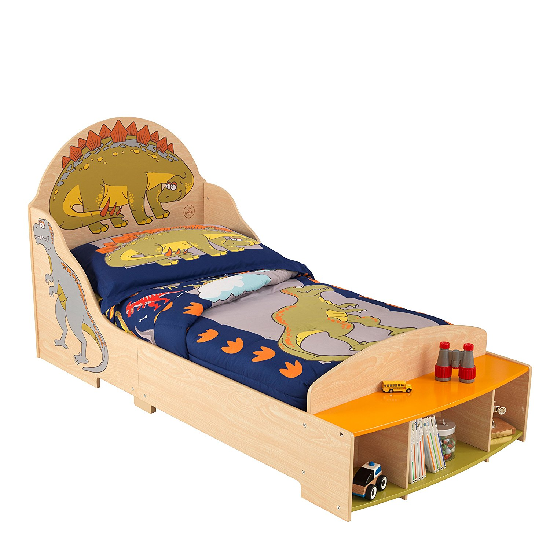 Детская кровать – Динозавр, с полкамиДетские кровати и мягкая мебель<br>Детская кровать – Динозавр, с полками<br>