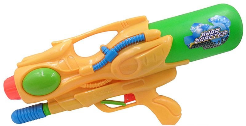 Водное оружие Аквабластер, желто-зеленыйВодяные пистолеты<br>Водное оружие Аквабластер, желто-зеленый<br>