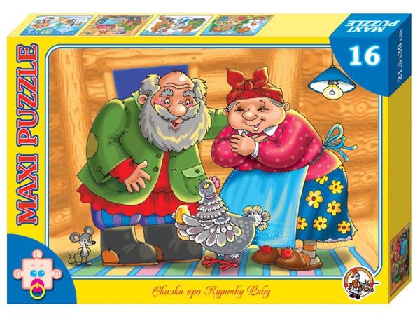Пазл макси «Сказка про курочку Рябу», 16 элементовПазлы для малышей<br>Пазл макси «Сказка про курочку Рябу», 16 элементов<br>