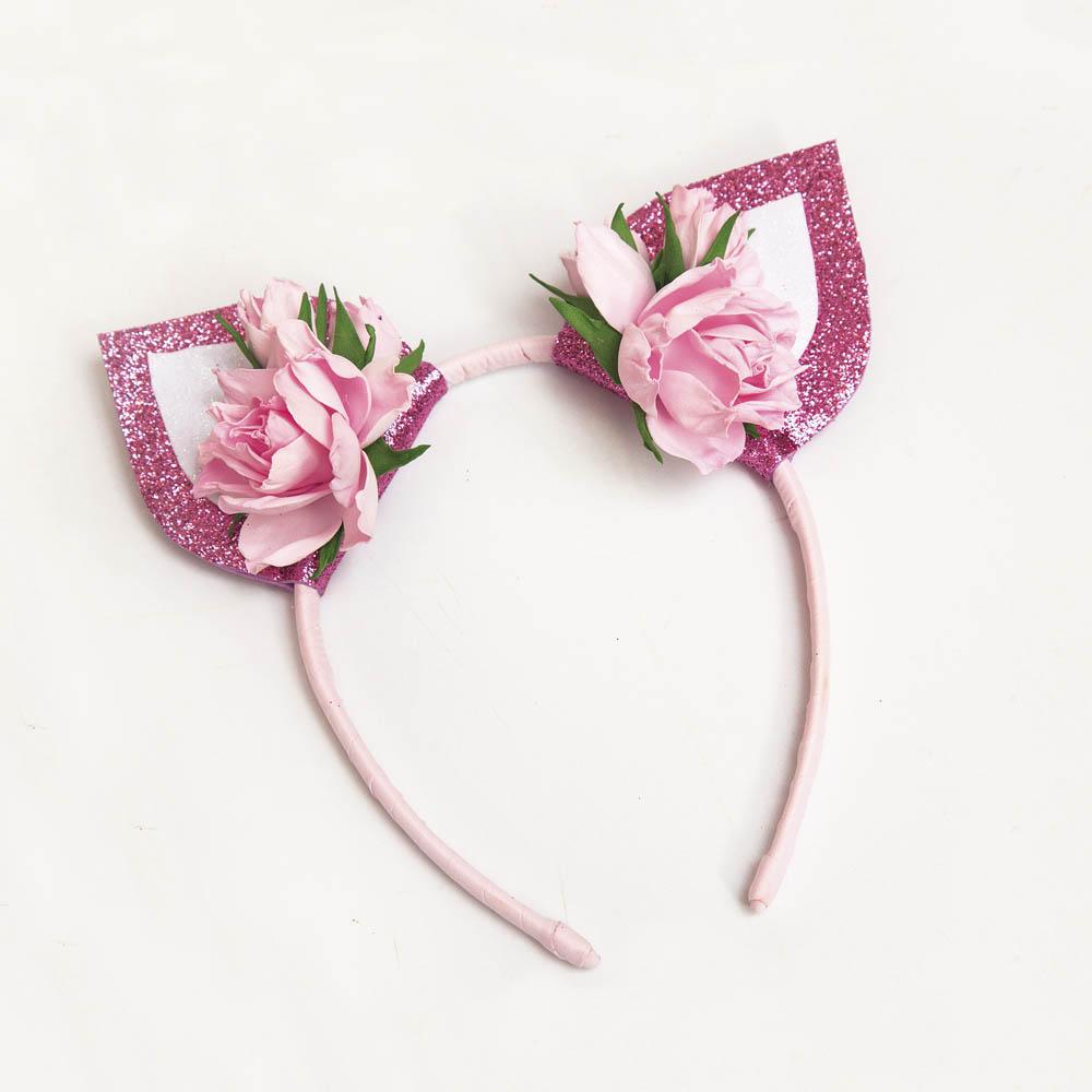 Набор для творчества - Ободок ушки, розовый