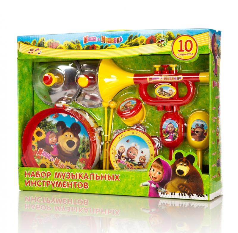 Набор музыкальных инструментов «Маша и медведь», 10 предметовМузыкальные наборы<br>Набор музыкальных инструментов «Маша и медведь», 10 предметов<br>