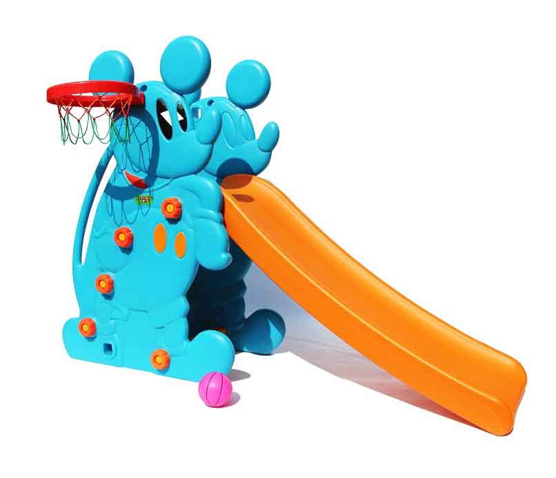 Купить Горка и баскетбольное кольцо – Мышка, синий, Perfetto sport