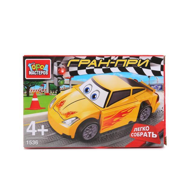 Конструктор – Гоночная Машинка, желтаяГород мастеров<br>Конструктор – Гоночная Машинка, желтая<br>