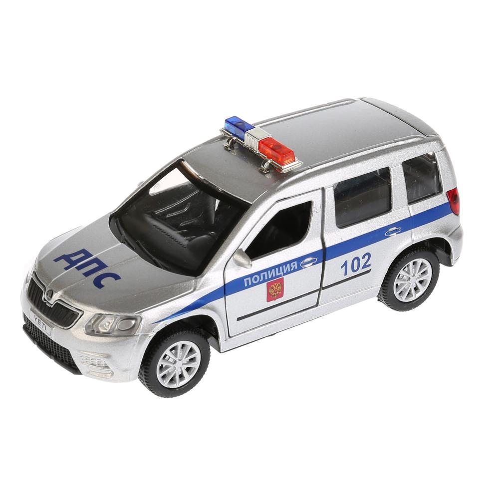 Купить Машинка металлическая инерционная Skoda Yeti Полиция, открываются двери, свет и звук, 12 см., Технопарк