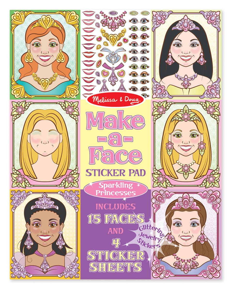 Набор стикеров - Сделай лицо из серии ТворчествоНаклейки<br>Набор стикеров - Сделай лицо из серии Творчество<br>