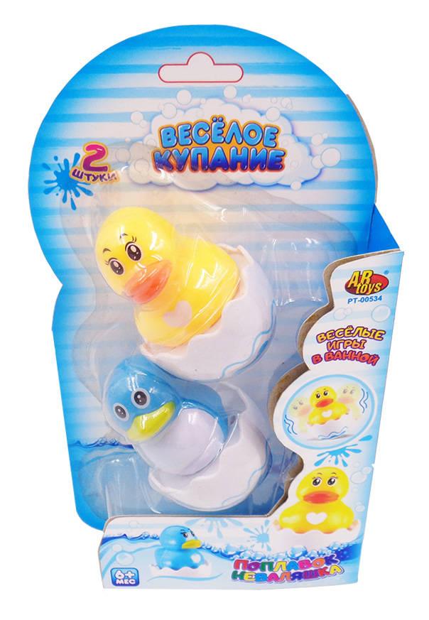 Игрушки для ванной, в наборе уточка и цыпленок-поплавок  – Веселое купаниеУточки для ванны<br>Игрушки для ванной, в наборе уточка и цыпленок-поплавок  – Веселое купание<br>