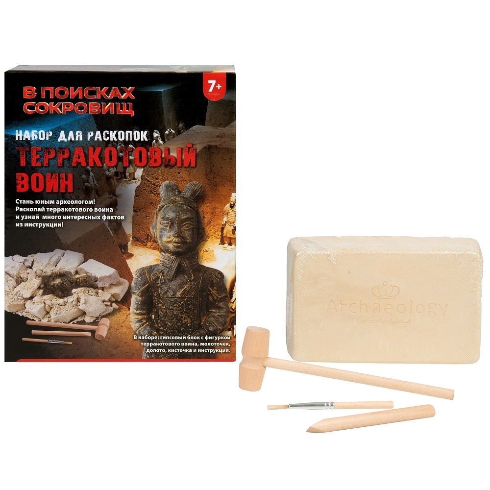 Купить Набор для раскопок - Терракотовый воин из серии В поисках сокровищ, Росмэн