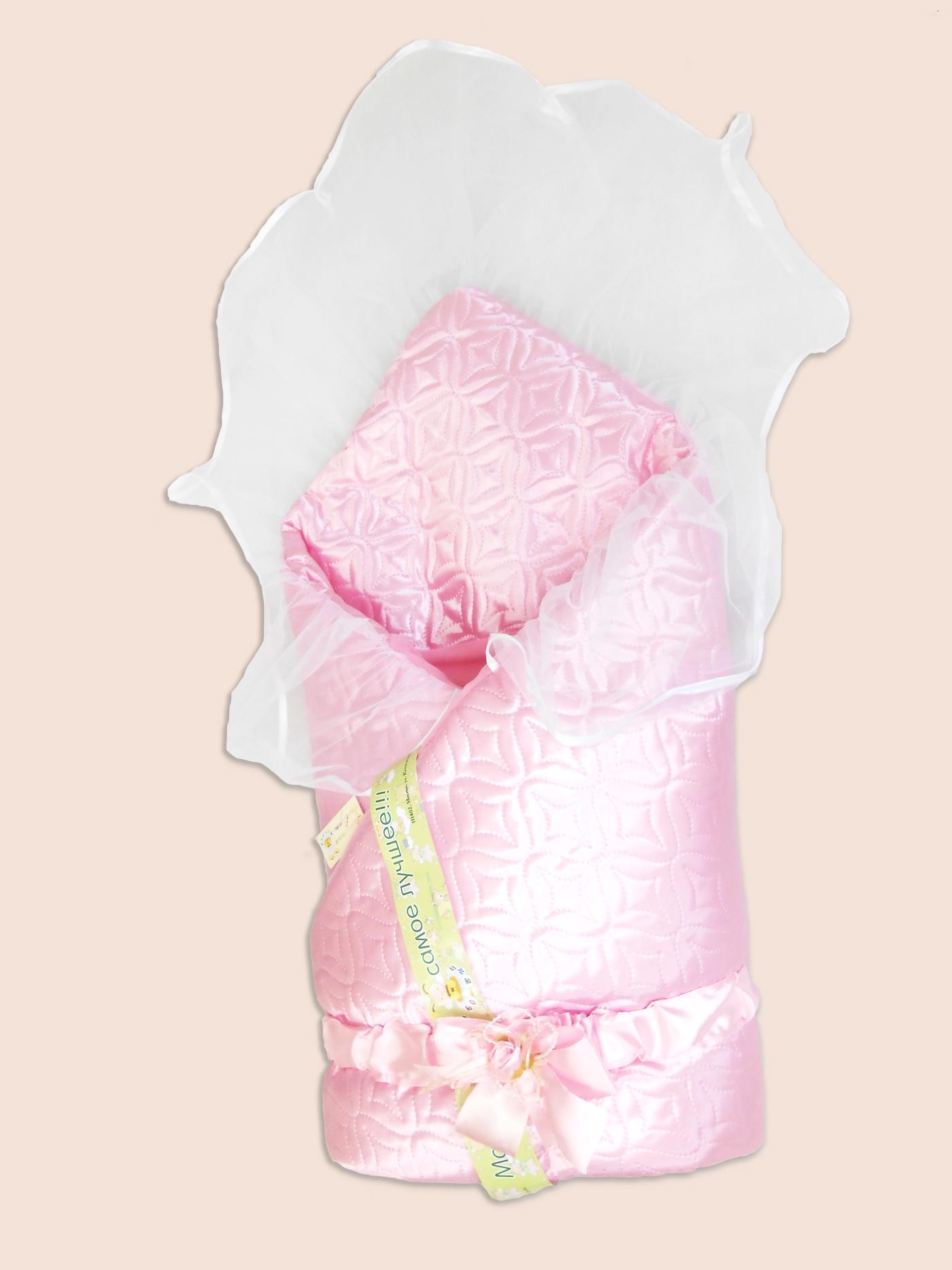 Одеяло на выписку – Мила, розовоеКомплекты на выписку<br>Одеяло на выписку – Мила, розовое<br>
