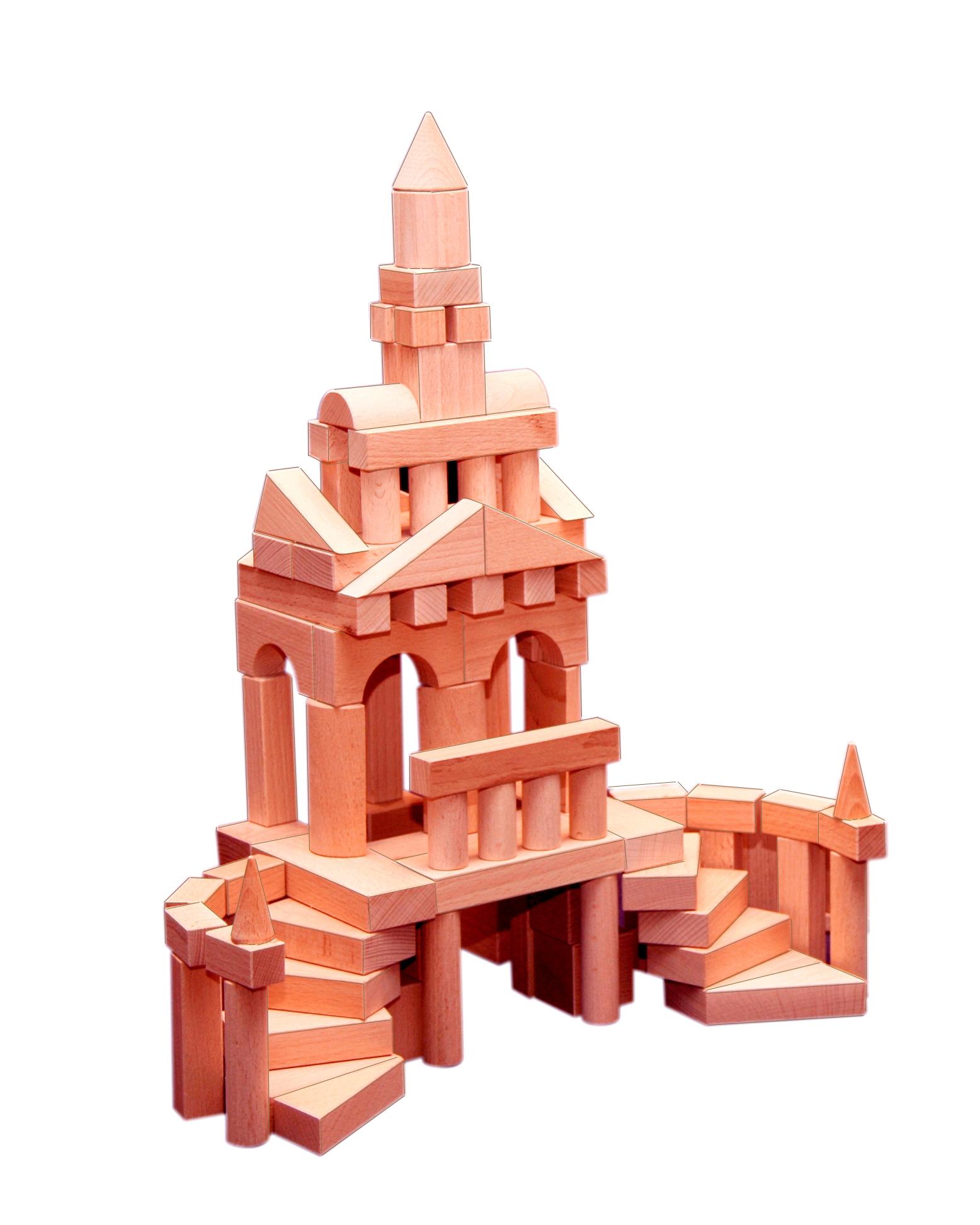 Конструктор деревянный не окрашенный, 150 деталейДеревянный конструктор<br>Конструктор деревянный не окрашенный, 150 деталей<br>