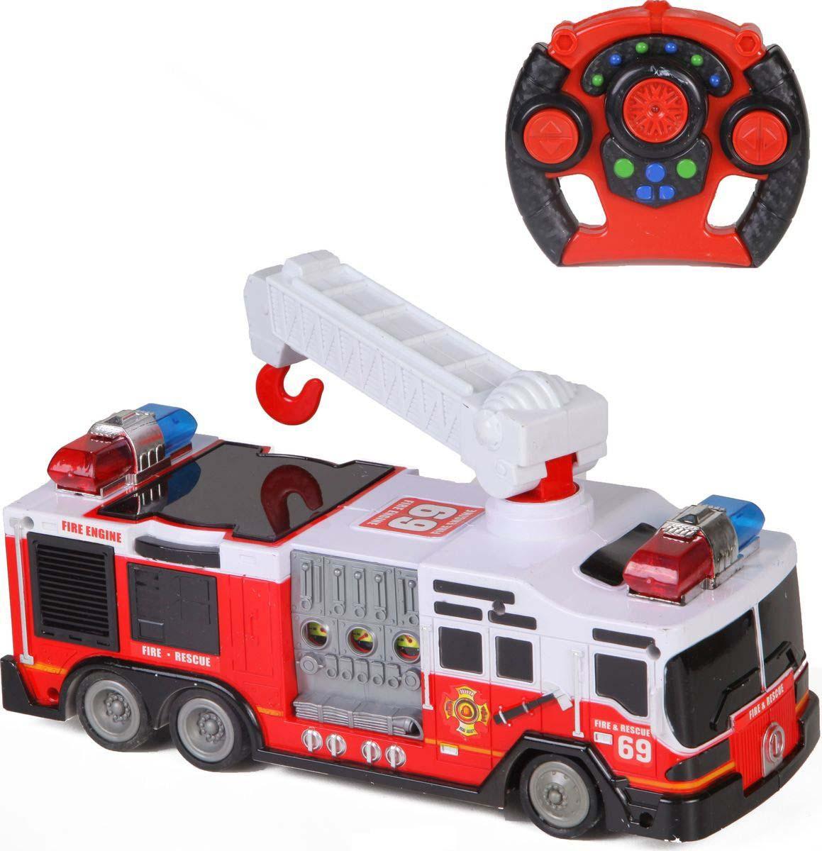 Пожарная машина на радиоуправлении, свет и звукМашины на р/у<br>Пожарная машина на радиоуправлении, свет и звук<br>