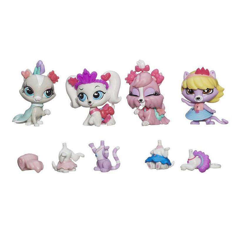 Игровой набор 4 зверюшки с аксессуарами Littlest Pet ShopShopLittlest Pet Shop – Маленький зоомагазин<br>Игровой набор 4 зверюшки с аксессуарами Littlest Pet ShopShop<br>