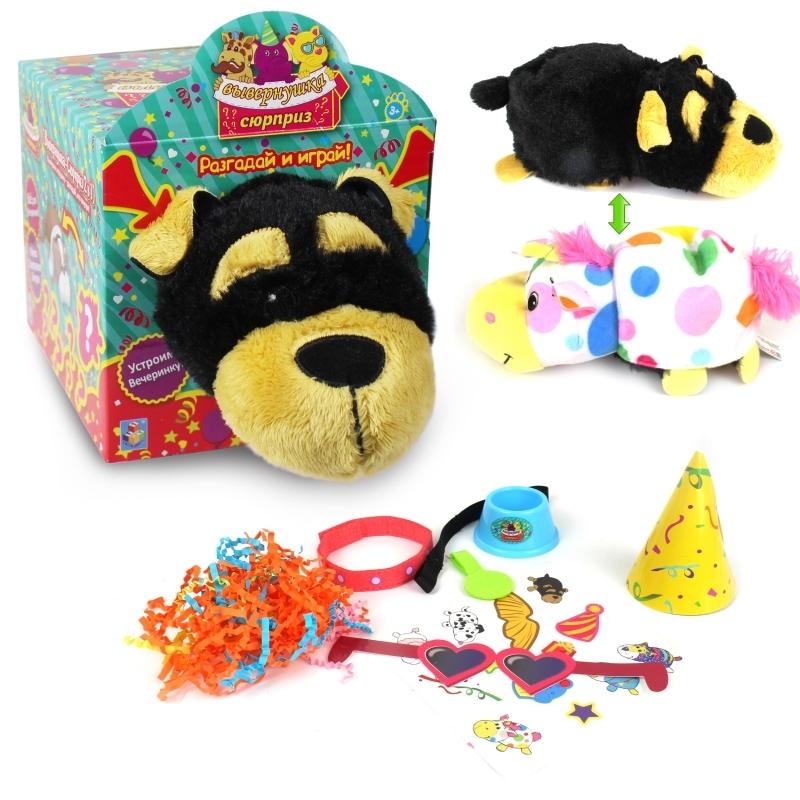 Купить Мягкая игрушка из серии Вывернушка-Сюрприз 2в1 Йоркширский терьер, 23 х 12 х 12 см., 1TOY